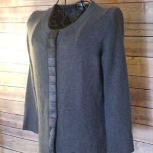Ann Taylor Sweaters - Ann Taylor S rabbit hair blend gray sweater